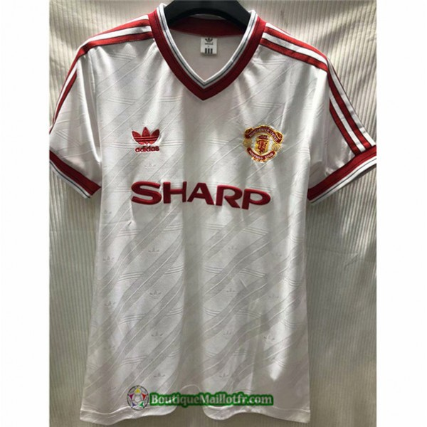 Maillot Manchester United Retro 1986 Exterieur Bla...