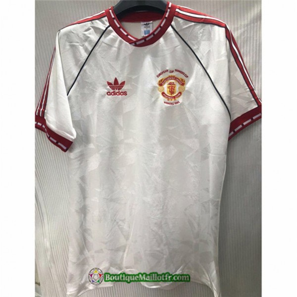 Maillot Manchester United Retro 1991 Exterieur Bla...