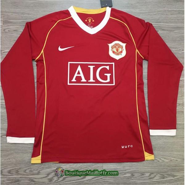 Maillot Manchester United Retro 2006 07 Domicile M...