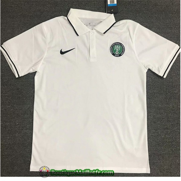 Maillot Nigeria Polo 2020 2021 Blanc