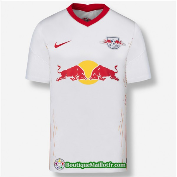 Maillot Rb Leipzig 2020 2021 Domicile Blanc