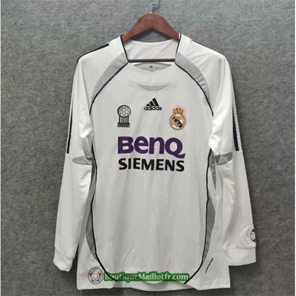 Maillot Real Madrid Retro 2006 07 Domicile Manche ...