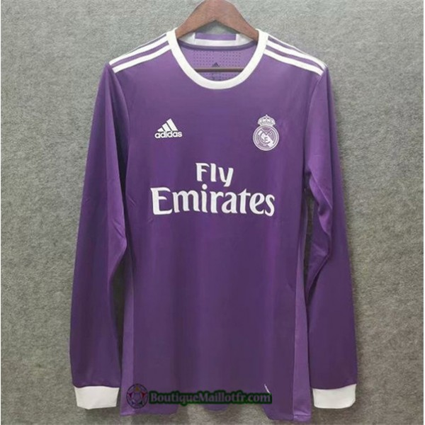 Maillot Real Madrid Retro 2016 17 Exterieur Manche...