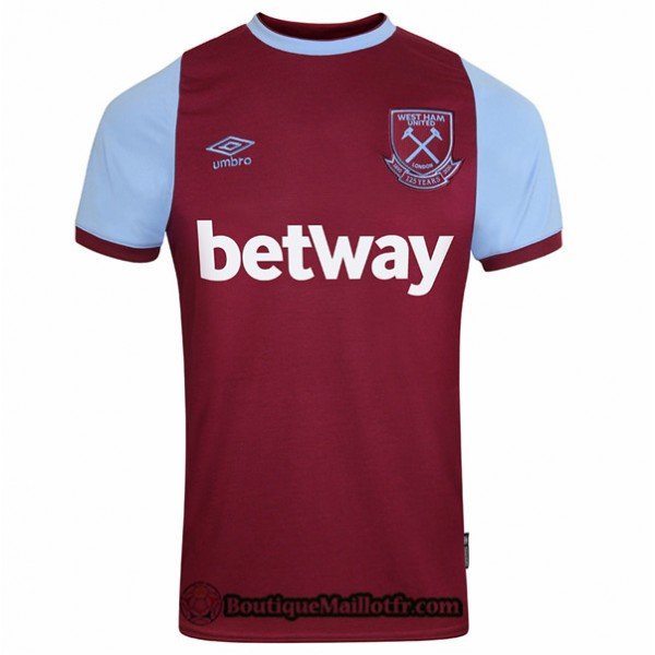 Maillot West Ham United 2020 2021 Domicile 125e An...