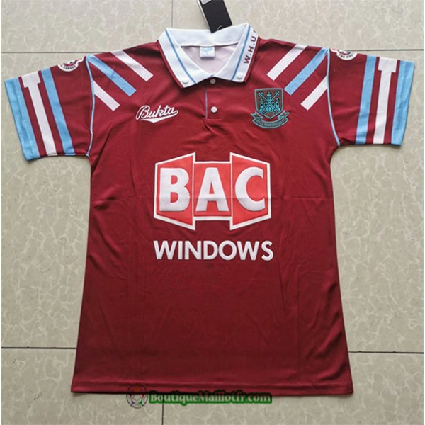 Maillot West Ham United Retro 1991 92 Domicile