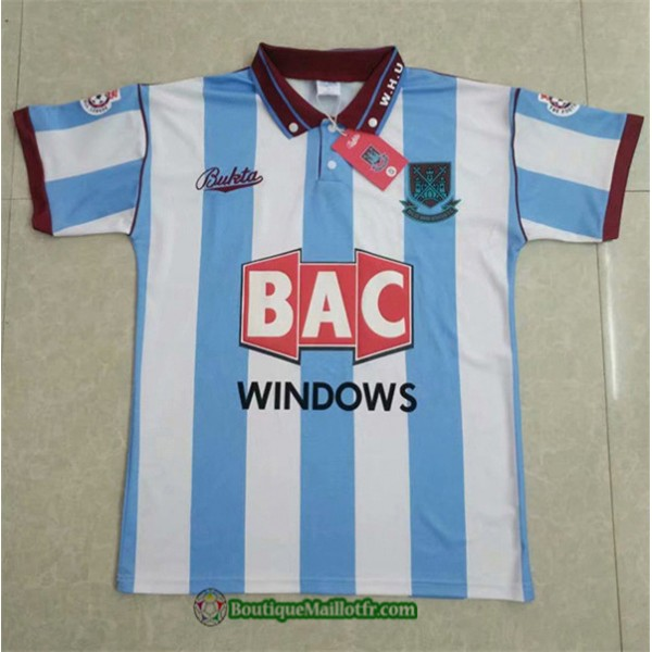 Maillot West Ham United Retro 1991 92 Exterieur