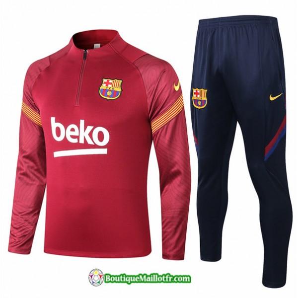 Survetement Barcelone 2020 2021 Rouge Foncé