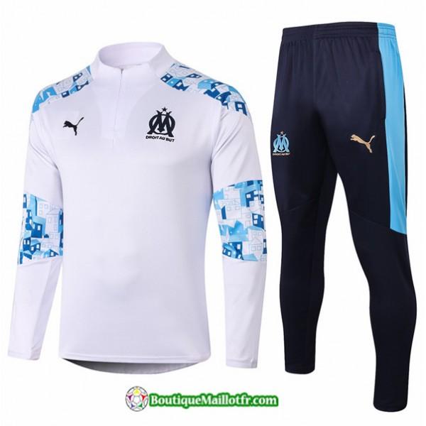 Survetement Marseille 2020 2021 Blanc