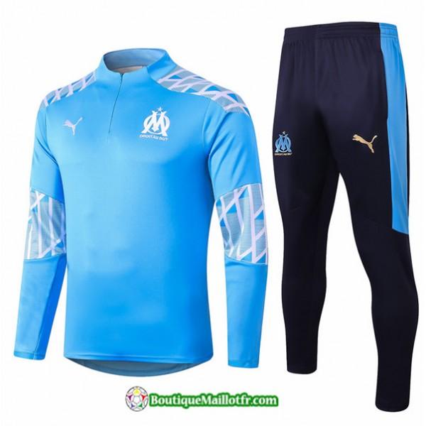 Survetement Marseille 2020 2021 Bleu Clair