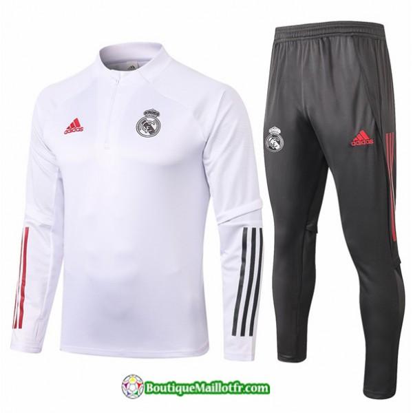 Survetement Real Madrid 2020 2021 Blanc