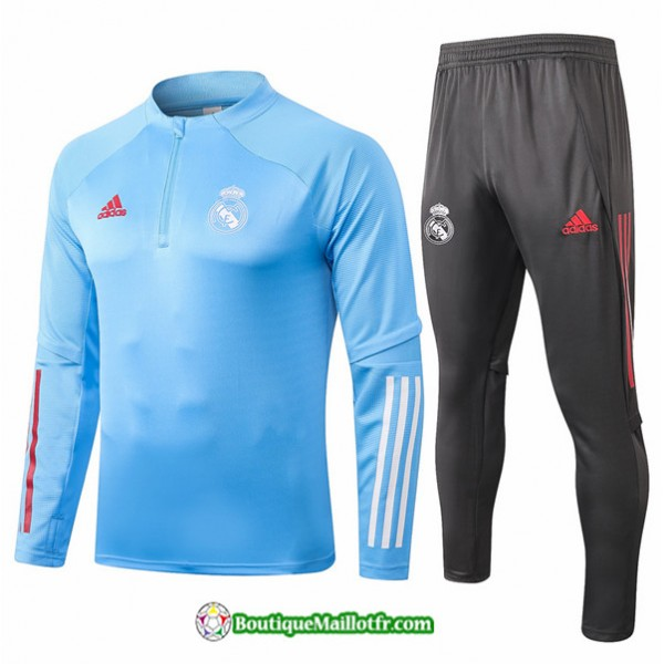Survetement Real Madrid 2020 2021 Bleu Clair