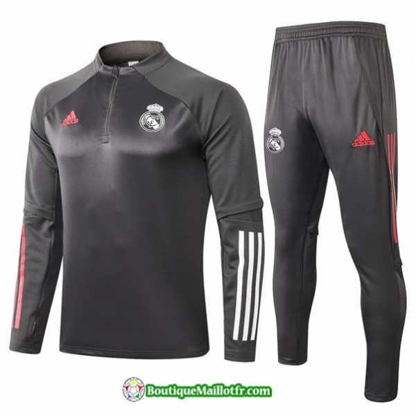 Survetement Real Madrid 2020 2021 Gris Foncé