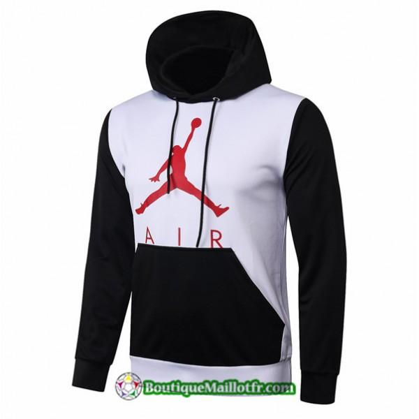 Sweat à Capuche Jordan 2020 2021 Blanc/noir
