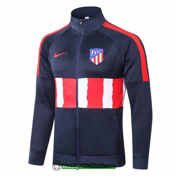 Veste Atletico Madrid 2020 2021 Bleu Marine/rouge/...
