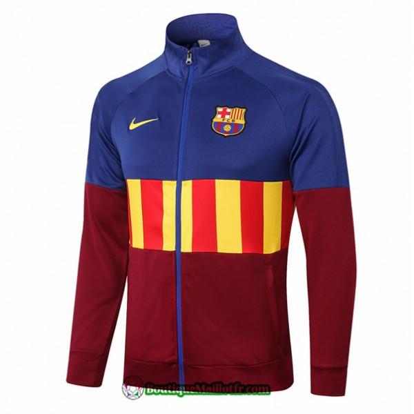 Veste Barcelone 2020 2021 Bleu/rouge/jaune Col Hau...