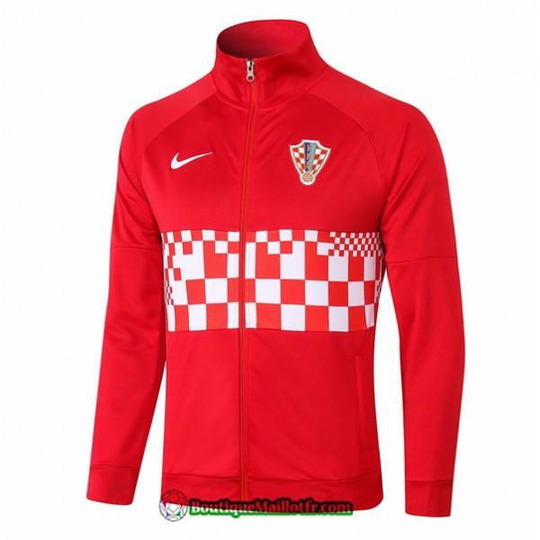 Veste Croatie 2020 2021 Rouge