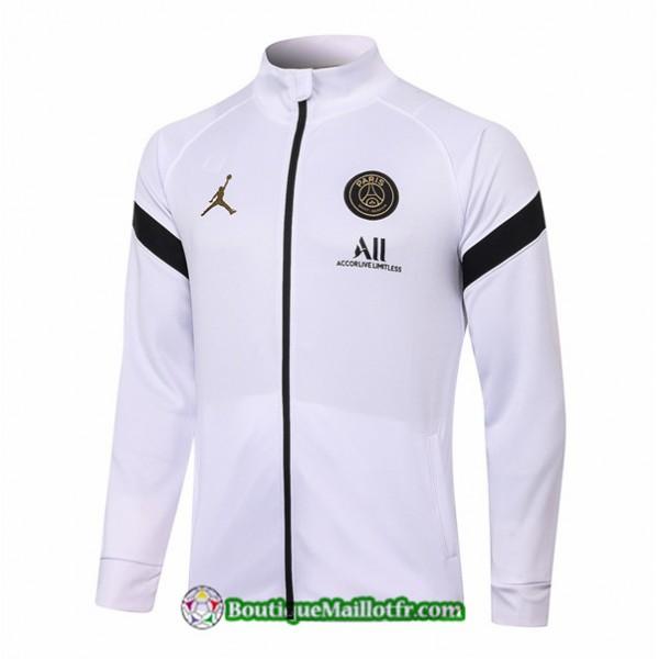 Veste Jordan 2020 2021 Blanc/noir