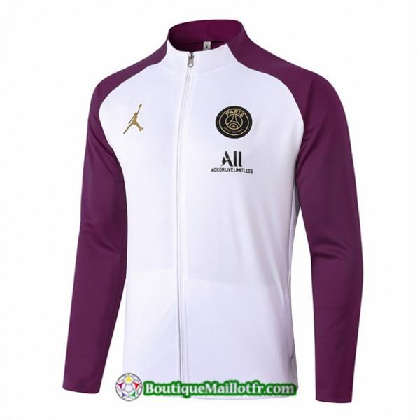 Veste Jordan 2020 2021 Blanc/violet