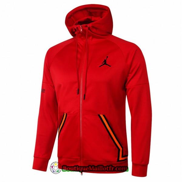 Veste Jordan 2020 2021 à Capuche Rouge