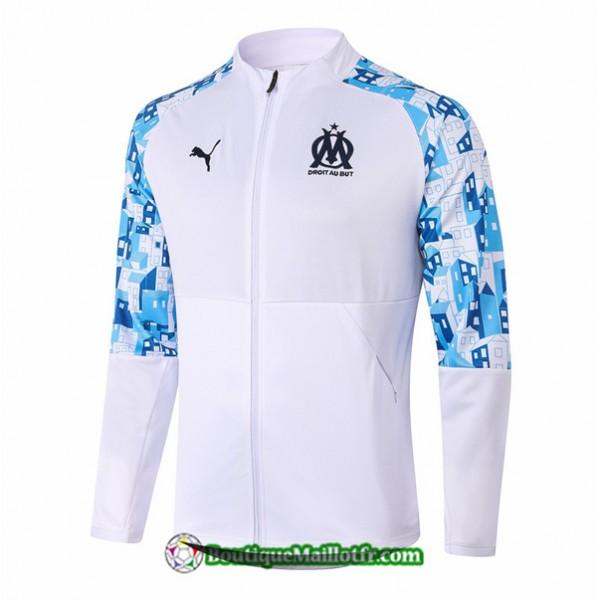 Veste Marseille 2020 2021 Blanc