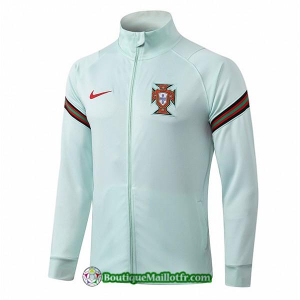 Veste Portugal 2020 2021 Vert Clair Col Haut