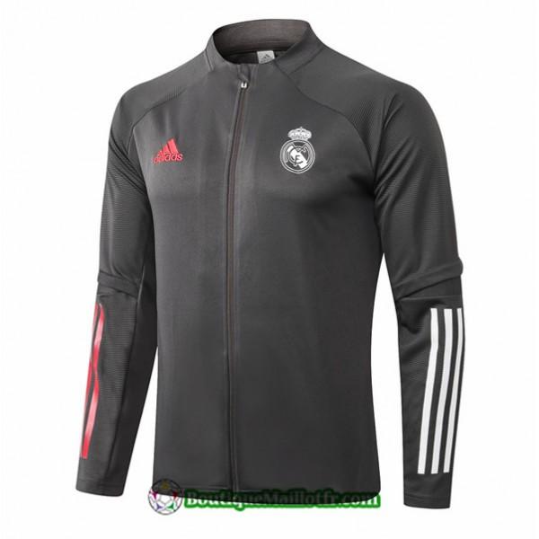 Veste Real Madrid 2020 2021 Gris Foncé