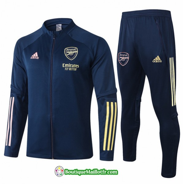 Veste Survetement Arsenal 2020 2021 Bleu Marine