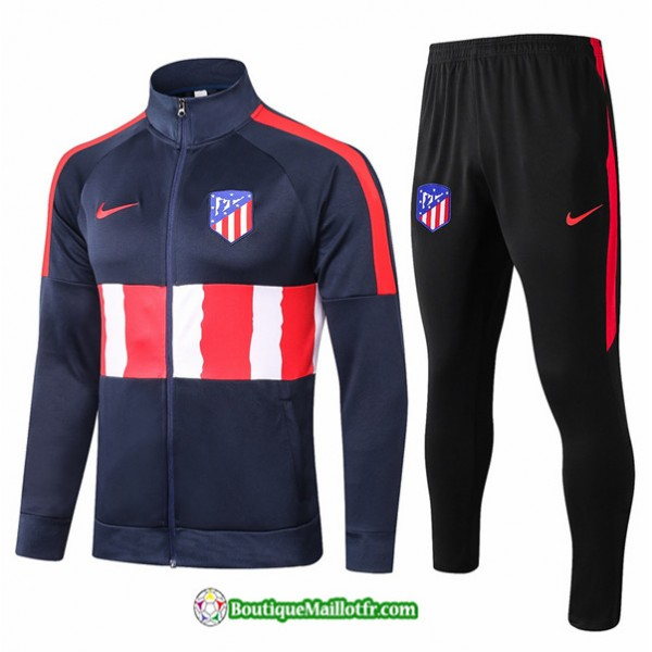 Veste Survetement Atletico Madrid 2020 2021 Bleu M...