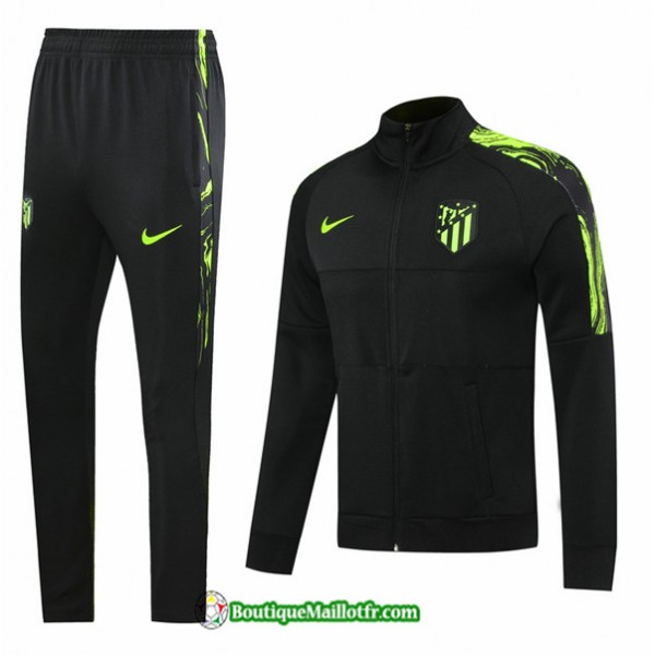 Veste Survetement Atletico Madrid 2020 2021 Noir