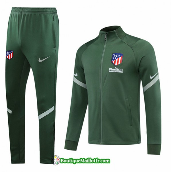 Veste Survetement Atletico Madrid 2020 2021 Vert