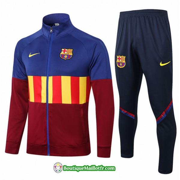 Veste Survetement Barcelone 2020 2021 Bleu/rouge/j...