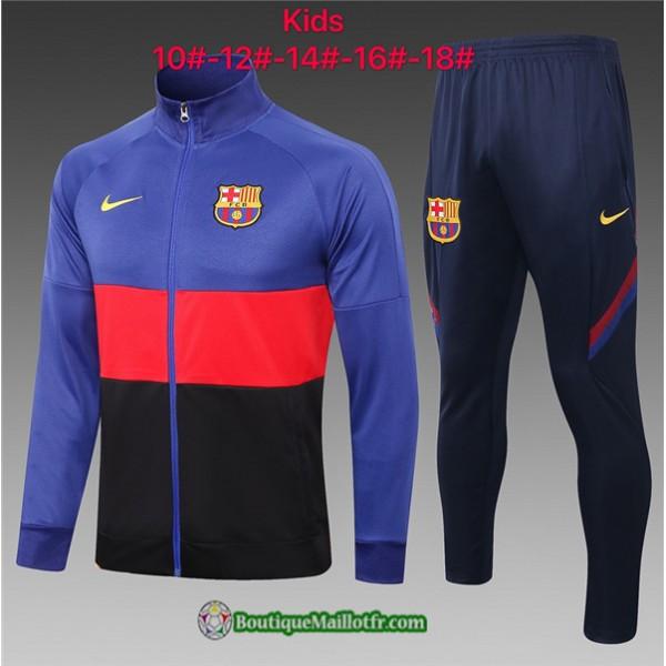 Veste Survetement Barcelone Enfant 2020 2021 Bleu/...