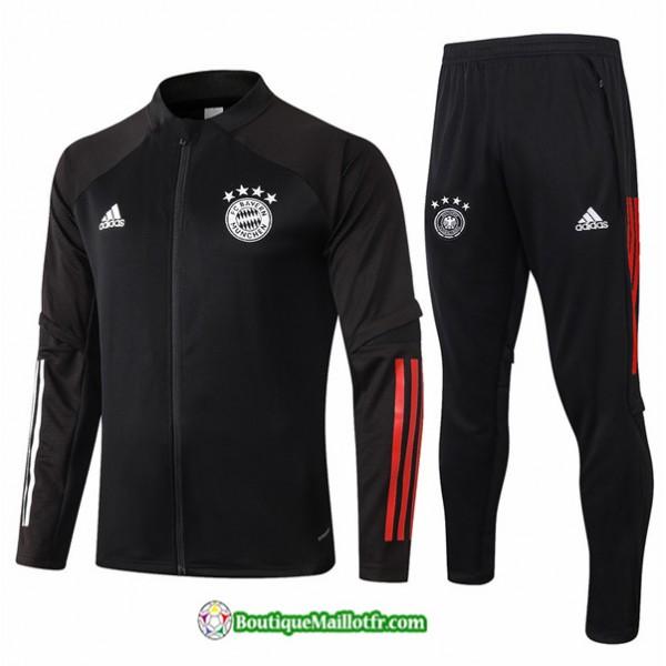 Veste Survetement Bayern Munich 2020 2021 Noir
