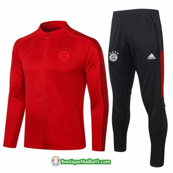 Veste Survetement Bayern Munich 2020 2021 Rouge
