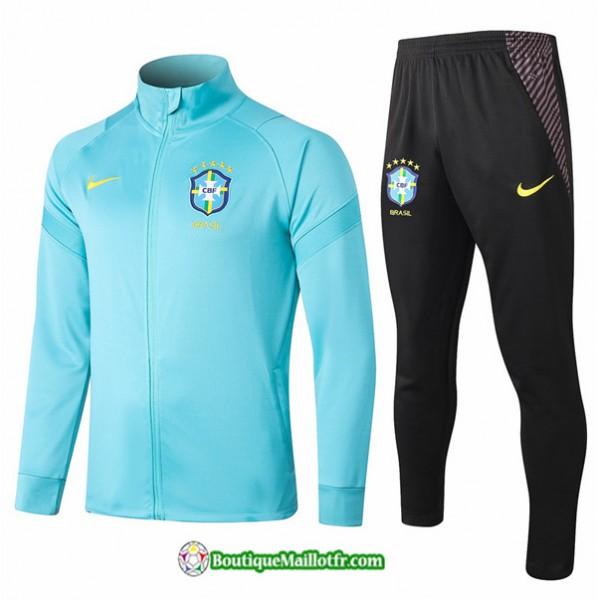 Veste Survetement Brésil 2020 2021 Bleu