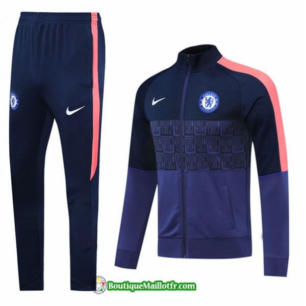 Veste Survetement Chelsea 2020 2021 Bleu Marine