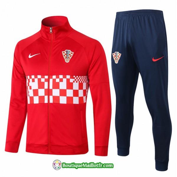 Veste Survetement Croatie 2020 2021 Rouge