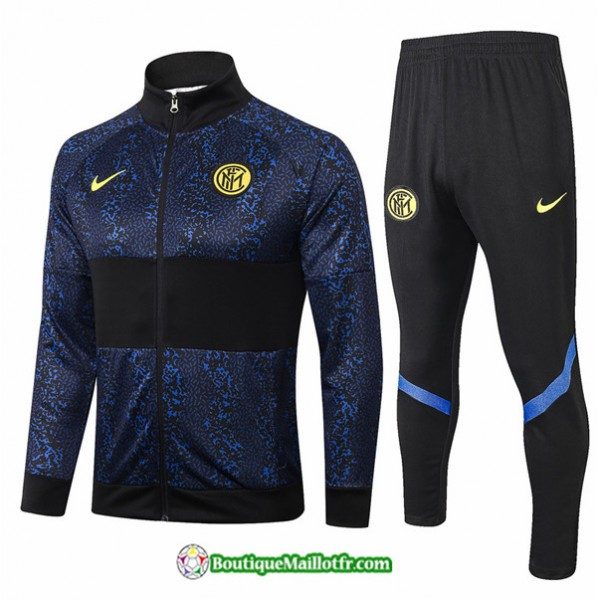 Veste Survetement Inter Milan 2020 2021 Bleu Marin...