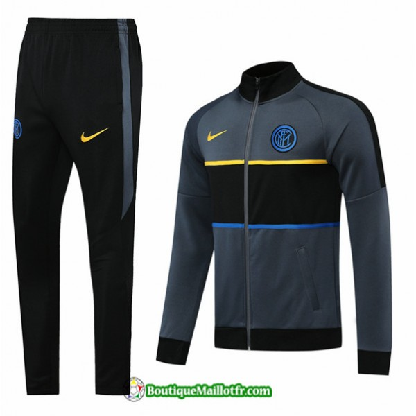 Veste Survetement Inter Milan 2020 2021 Gris