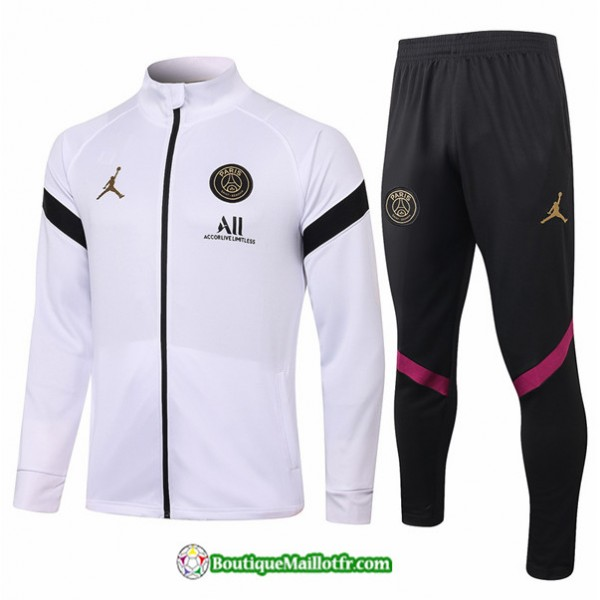 Veste Survetement Jordan 2020 2021 Blanc/noir