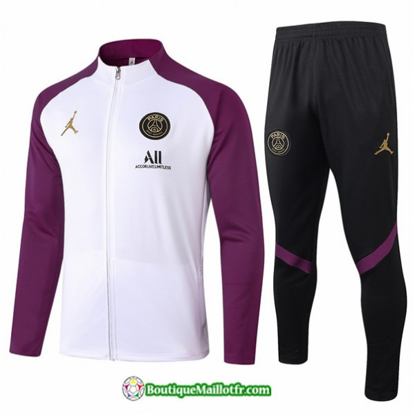 Veste Survetement Jordan 2020 2021 Blanc/violet