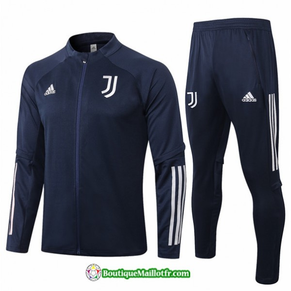 Veste Survetement Juventus 2020 2021 Bleu Marine