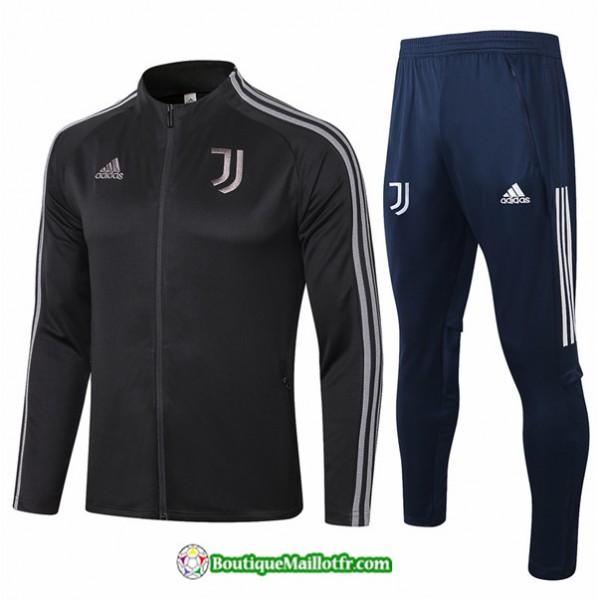 Veste Survetement Juventus 2020 2021 Noir/gris Col...