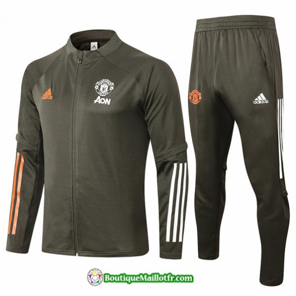 Veste Survetement Manchester United 2020 2021 Arme...