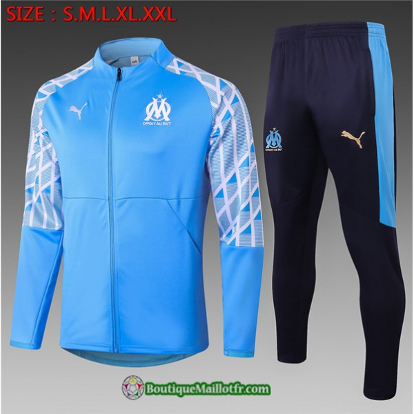 Veste Survetement Marseille Enfant 2020 2021 Bleu ...
