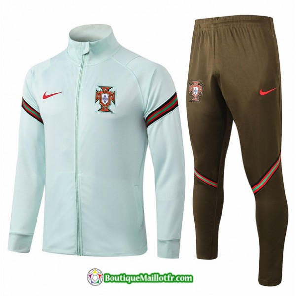 Veste Survetement Portugal 2020 2021 Vert Clair Co...