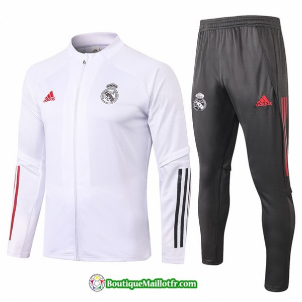 Veste Survetement Real Madrid 2020 2021 Blanc