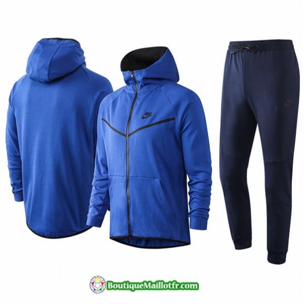 Veste Survetement Nike 2020 2021 à Capuche Bleu