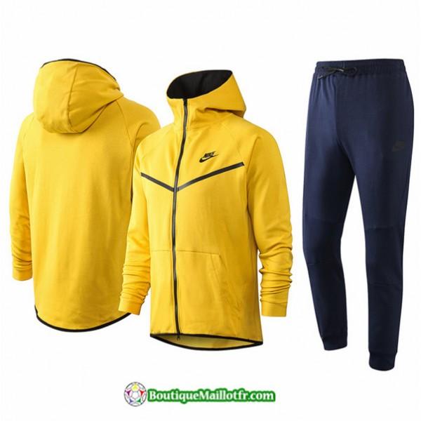Veste Survetement Nike 2020 2021 à Capuche Jaune