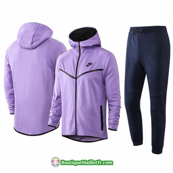 Veste Survetement Nike 2020 2021 à Capuche Pourpr...